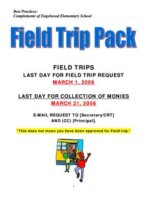 school field trip permission slips