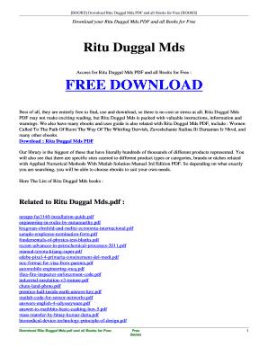 Ritu Duggal Mcq Book Free Download - Fill Online, Printable