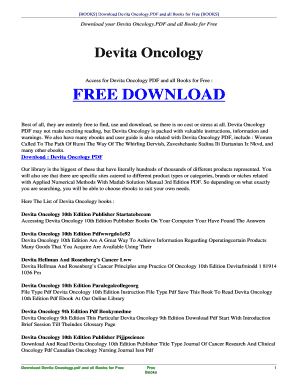 Fillable online seealso esy free devita oncologypdf and related rate this form fandeluxe Choice Image