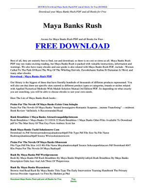 maya banks series rush
