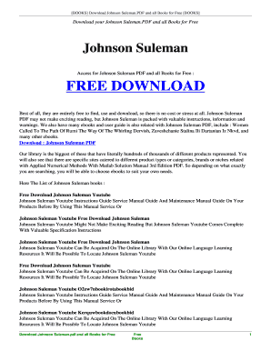 Apostle Johnson Suleman Books Pdf - Fill Online, Printable