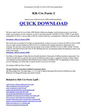 Form Two Book For Cre Pdf - Fill Online, Printable, Fillable, Blank