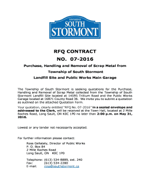 Printable rfq contract - Fill Out & Download Invoice Forms