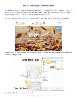online printable recipe cards