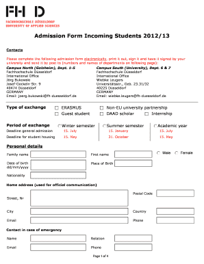Fh Form | Free Here