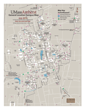 Fillable Online Umassamherst General Location Campus Map