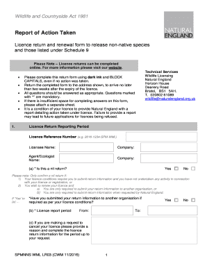 Disaster After Action Report Template. Report Actions Taken Under This  Licence   Gov.uk