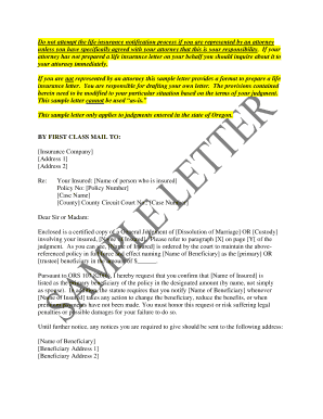 Printable sample letter confirming insurance coverage ...