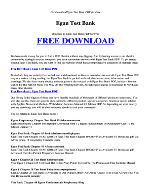 Fillable Online encode esy EGAN TEST BANK PDF and Related