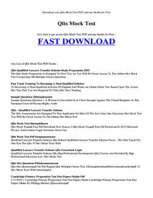 Fillable Online postscr esy Free QLTS MOCK TEST PDF and Related
