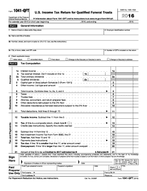 IRS 1041-QFT form | PDFfiller