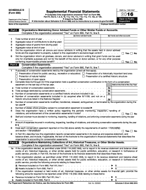 2016 Form IRS 990 - Schedule D Fill Online, Printable ...