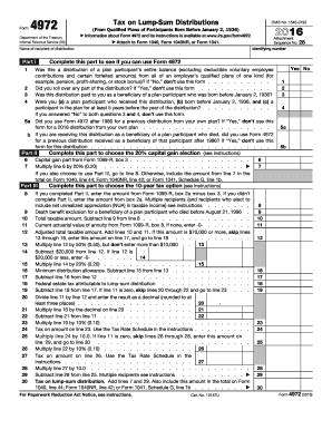 2017 Form IRS 4972 Fill Online, Printable, Fillable, Blank - PDFfiller