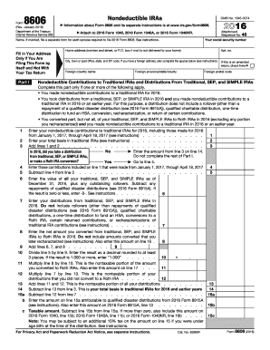 2016 Form IRS 8606 Fill Online, Printable, Fillable, Blank - PDFfiller