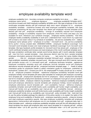 employee handbook template word edit online fill out download
