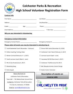 Casino volunteer application form