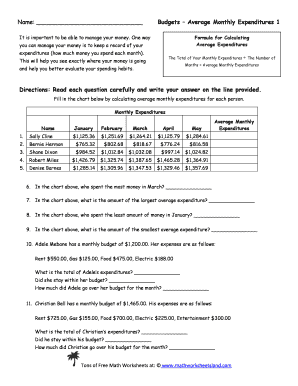 printable average living expenses for a college student forms and