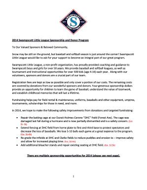 Letter of surrender sample fill online printable fillable blank lakeside little league sponsor letter altavistaventures Images