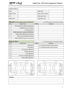 Used Car 100 Point Inspection Report v2.0