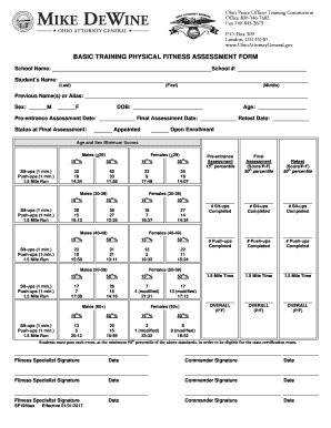 Fillable Online Ohioattorneygeneral Sf195bas Physical Fitness Assessment Form Eff 1 1 2017 Doc Ohioattorneygeneral Fax Email Print Pdffiller She developed the ancillary materials for the sixth edition of advanced fitness assessment and exercise prescription in addition to coauthoring the seventh edition. fillable online ohioattorneygeneral
