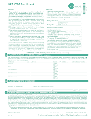 Editable do it yourself living trust kit fillable printable this hra veba plan participant enrollment kit contains the following solutioingenieria Image collections