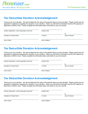 Tax Deductible Forms