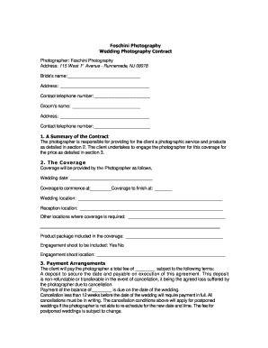 23 Printable General Photography Contract Forms And Templates