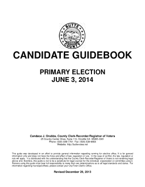 fillable online clerk recorder buttecounty candidate guidebook rh pdffiller com