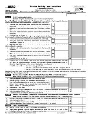 2017 Form IRS 8582 Fill Online, Printable, Fillable, Blank - PDFfiller
