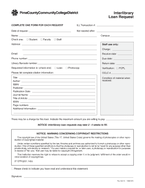 Interlibrary Loan Request Form. Interlibrary Loan Request Form