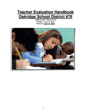 Teacher Evaluation Handbook Oakridge School District #76