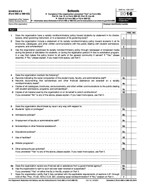IRS Schedule E (990 form)   PDFfiller