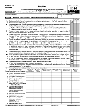 2016 Form 990 (Schedule H) - IRS.gov - irs