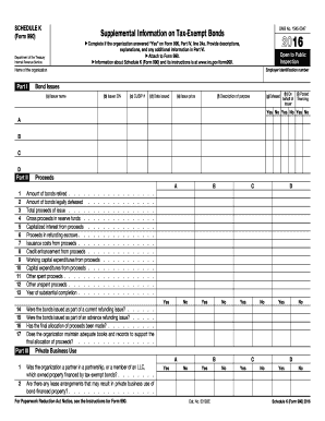 2016 irs schedule k form