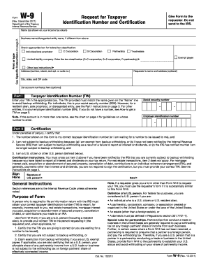 Fillable Online irs Form W-9 (Rev. December 2014) - IRS.gov - irs ...