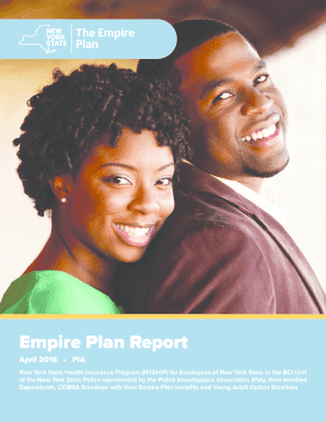Fillable Online cs ny Empire Plan Report - web address - New