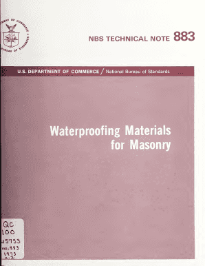 Fillable Online nvlpubs nist Waterproofing materials for