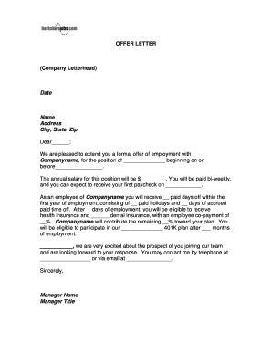 Letter On Company Letterhead from www.pdffiller.com
