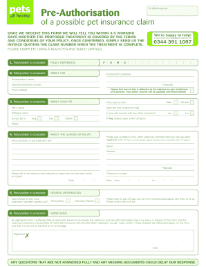 Pets At Home Application Form Fill Online Printable Fillable Blank Pdffiller
