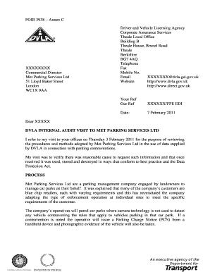 Met Parking Services >> Fillable Online Foir 3938 Annex C Fax Email Print Pdffiller