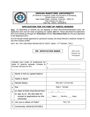 Editable application letter for hostel warden - Fillable & Printable