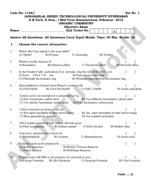 jntu hyderabad transcripts sample - Edit & Fill Out Online