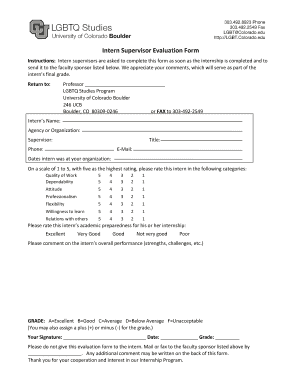 Intern Supervisor Evaluation Form   Colorado.edu