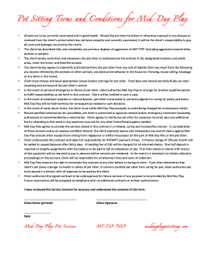 pet sitter contract pet owner contract open source user manual dog
