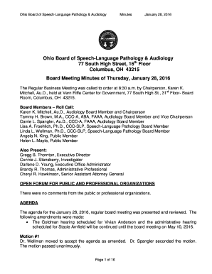 Fillable Online Slpaud Ohio Ohio Board Of Speech Language Pathology