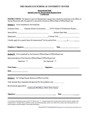 Bereavement leave request form edit online fill print download ntis special lve for bereavement form feb2011 spiritdancerdesigns Choice Image