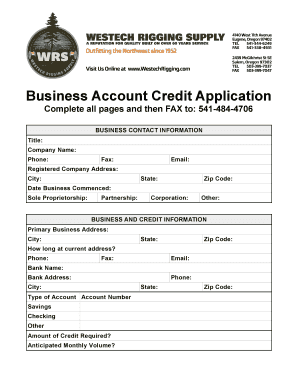 fillable online lib store yahoo business account credit application