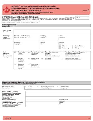Fillable Online Autoriti Kawalan Bangunan Dan Industri Fax Email Print Pdffiller