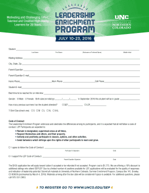 Download Leadership Enrichment Program (Grades 11 & 12) - unco