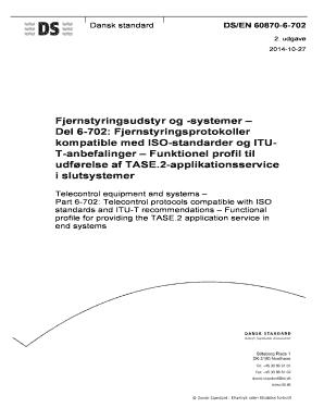Fillable Online Del 6-702 - Dansk Standard Fax Email Print - PDFfiller